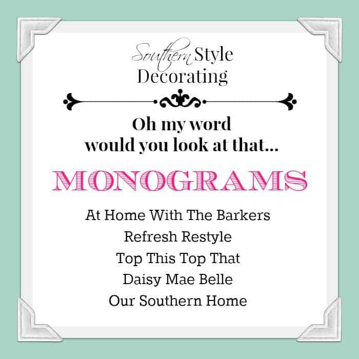 DIY Monogram Flag-Group Graphic