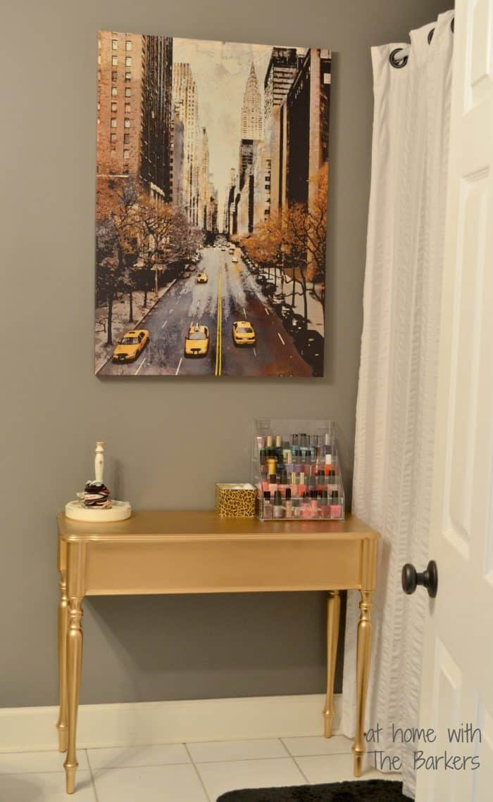 Diy gold painted table for Happy color spray paint price