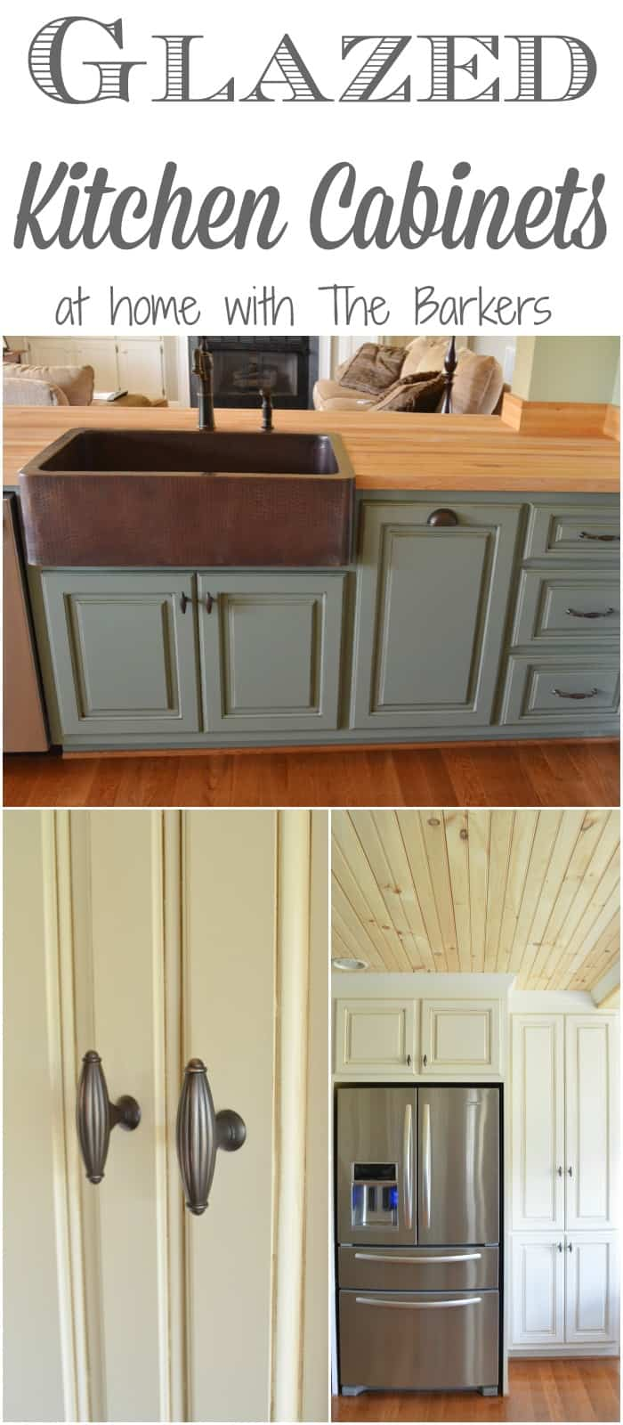 Captivating Glazed Kitchen Cabinets