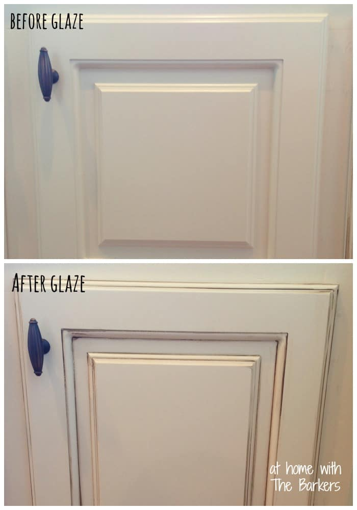 How To Glaze Cabinets At Home With The Barkers - Grey glazed cabinets