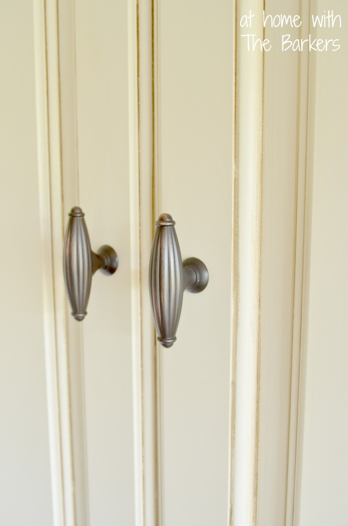 Glazed Kitchen Cabinets-Pantry details