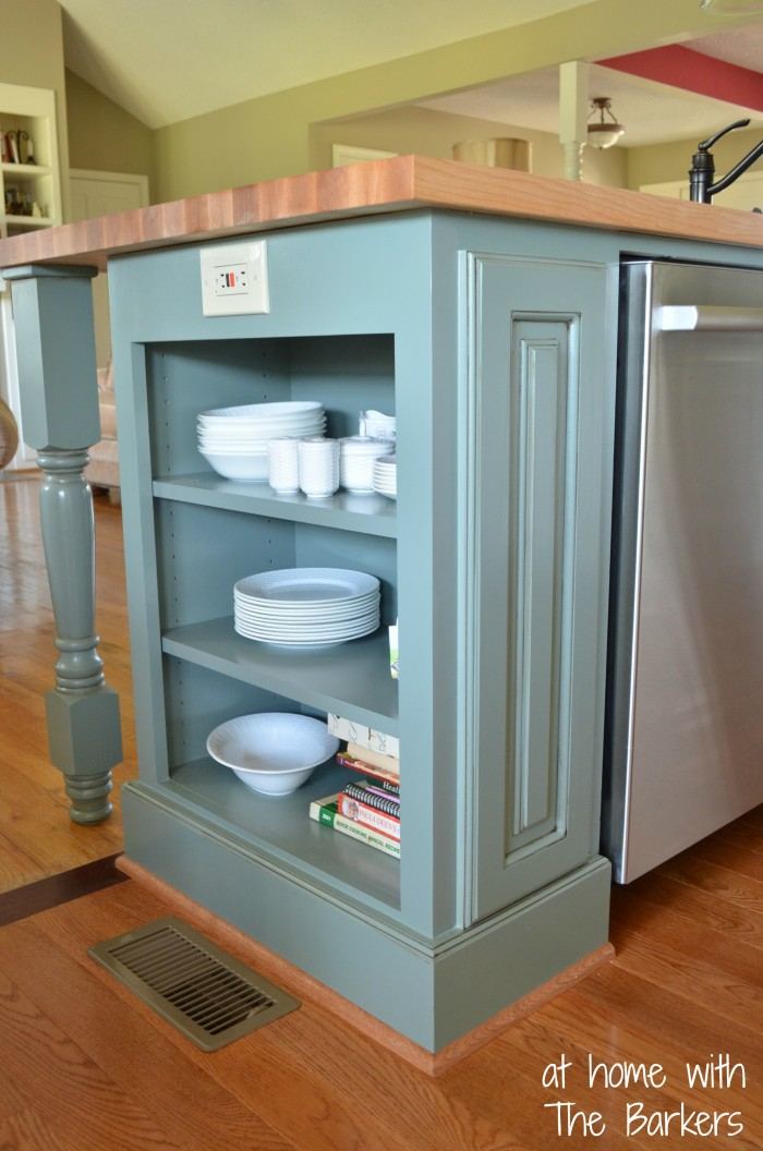 Glazed Kitchen Cabinets- At Home with The Barkers