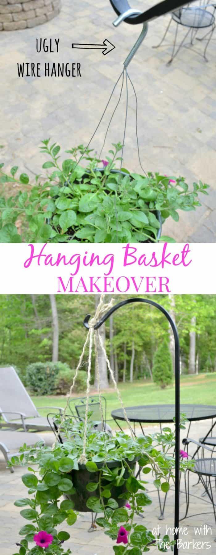 Hanging Basket Makeover-Before-After