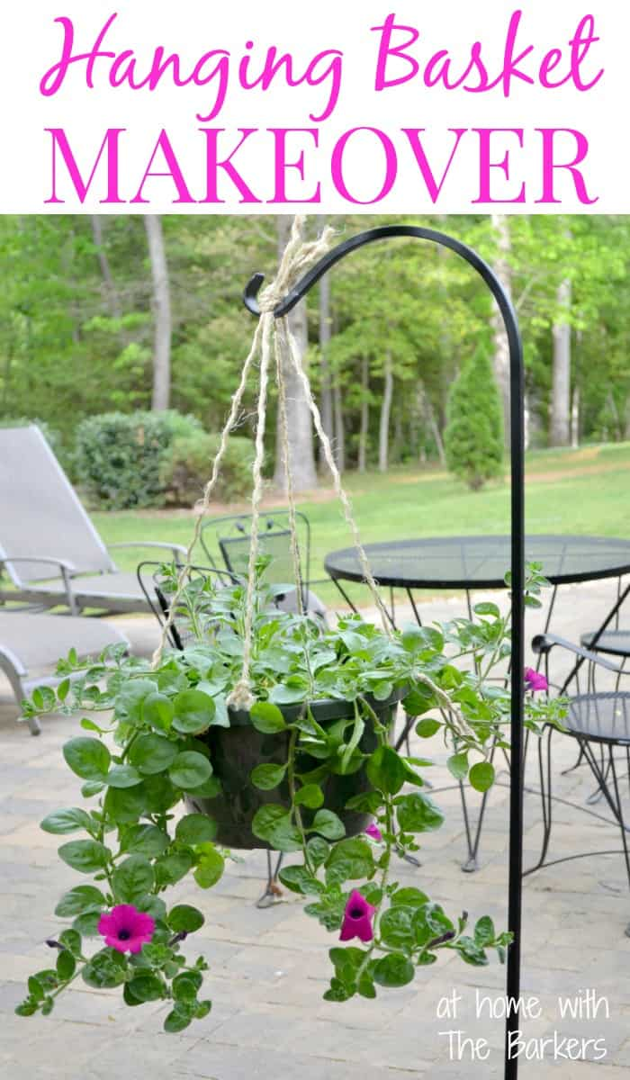 Hanging Basket Makeover- At Home with The Barkers