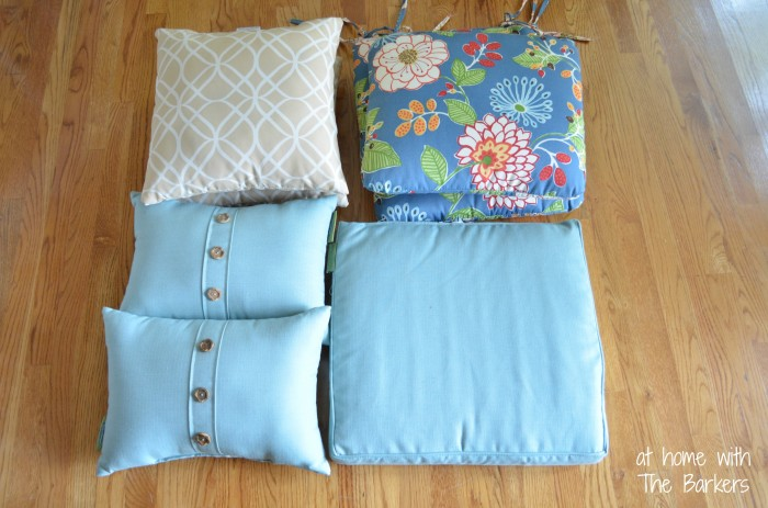 Patio Cushions and Pillows-Current Pillows Before