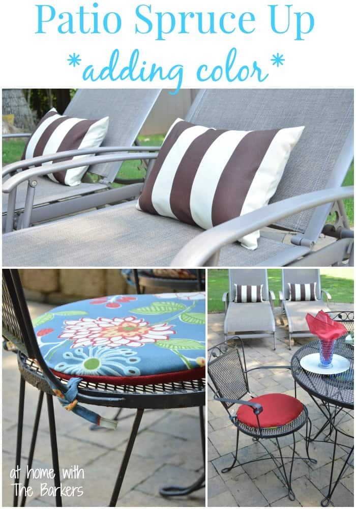 Reversible Patio Cushions and Pillows-Spruce up with color