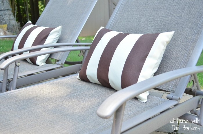 Patio Pillows-Vertical Stripes