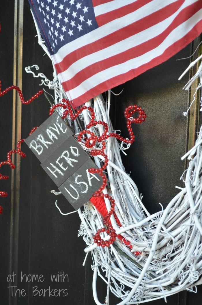 Spray Painted Patriotic Wreath