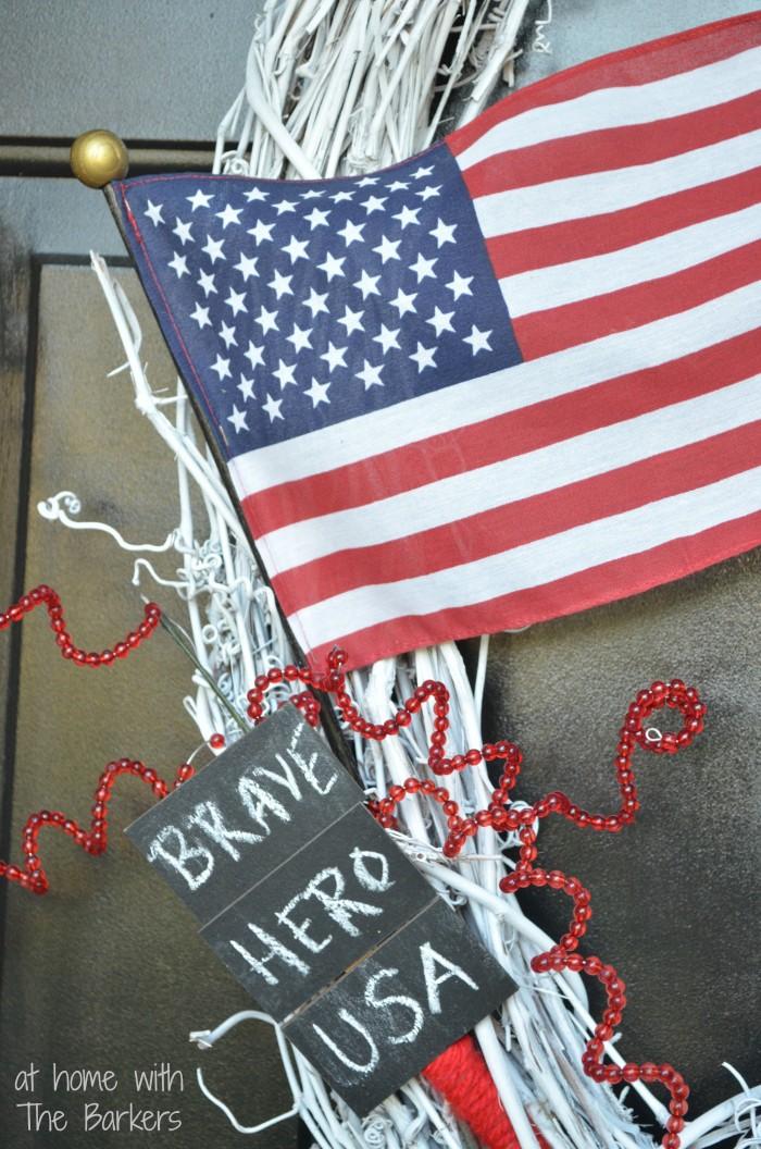 Patriotic Wreath-Memorial Day Honor