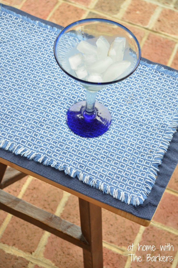 Repurposed Stool for Outdoor Entertaining-Layering