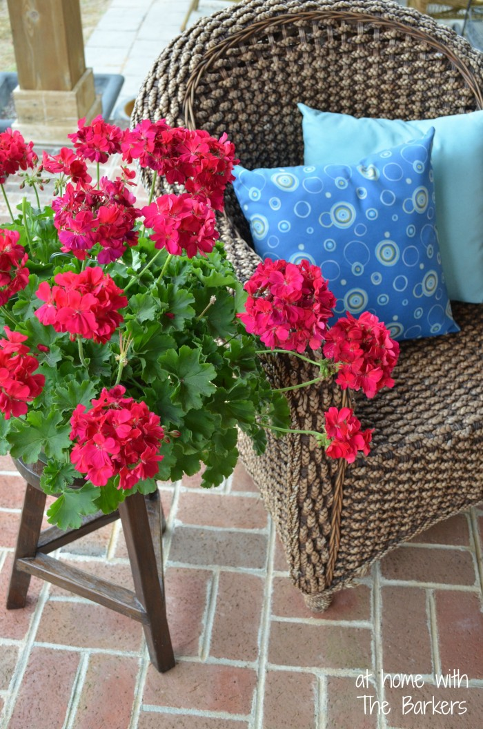 Repurpsed Stool for Outdoor Entertaining-Plant Stand