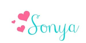 Sonya Signature with hearts