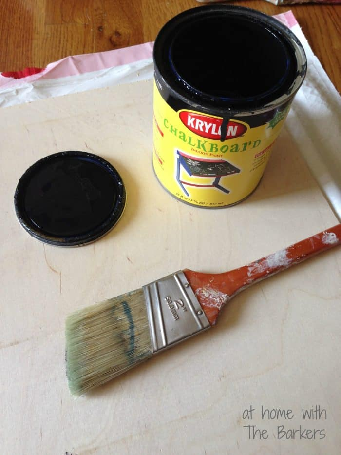Chalkboard Art and Yard Sale Frame-Painting Birch Plywood with chalkboard paint