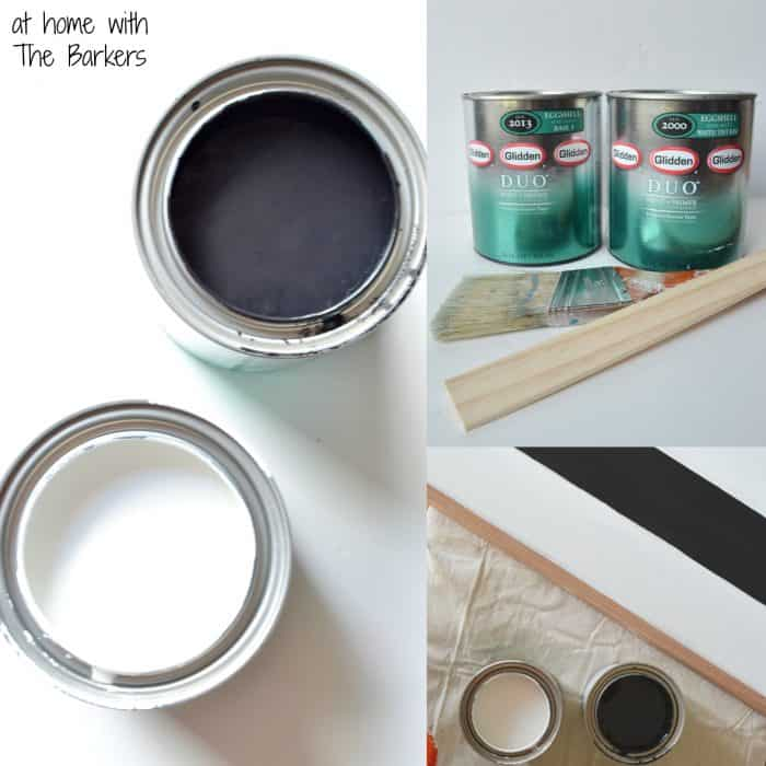 How to paint stripes-Glidden paints DUO