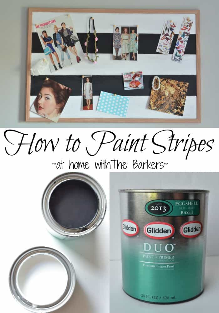 How to paint stripes-Inspiration Bulletin Board