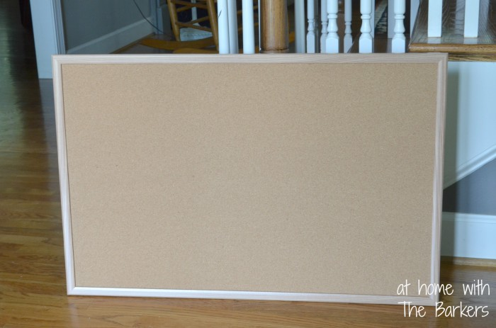 How to paint stripes-bulletin board