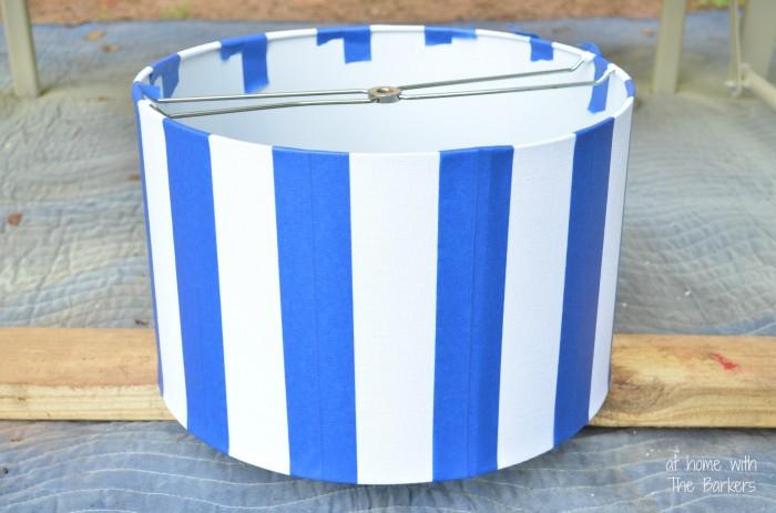 Spray Painted Lamp Shade-Painters Tape