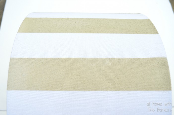 Spray Painted lamp Shade-Almond Color Stripes