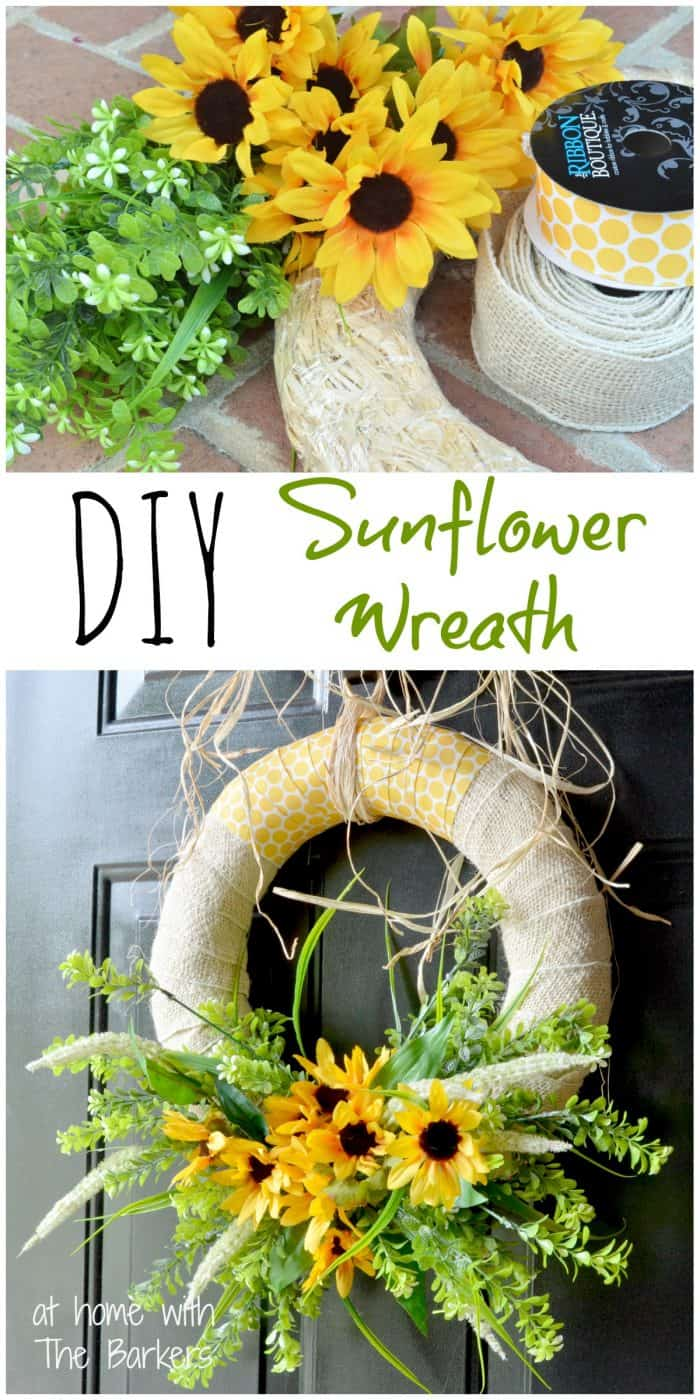 Summer Sunflower Wreath-DIY
