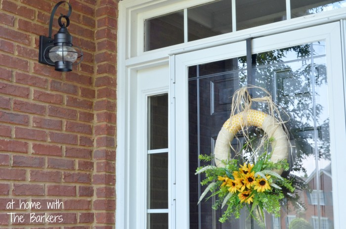 Summer Sunflower Wreath-Lantern Lights