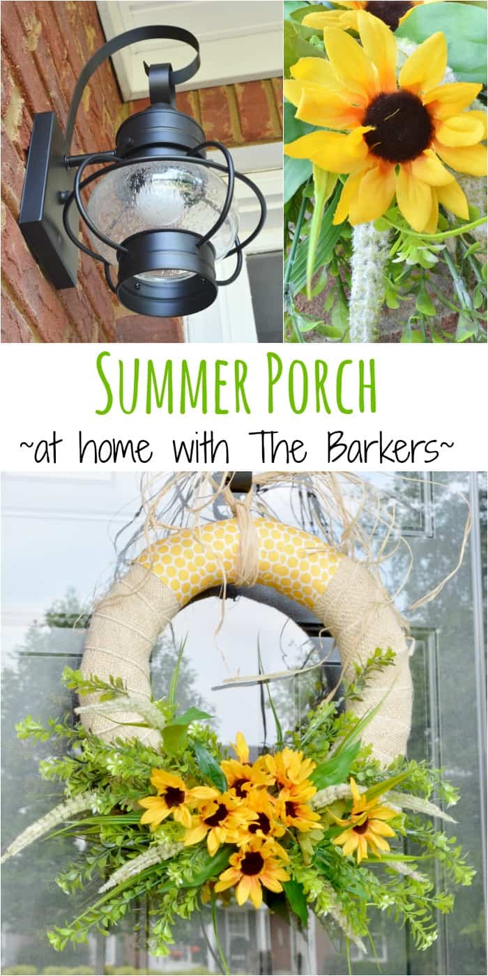 Summer Sunflower Wreath-Summer Porch