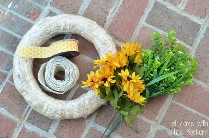 Summer Sunflower Wreath-Supplies