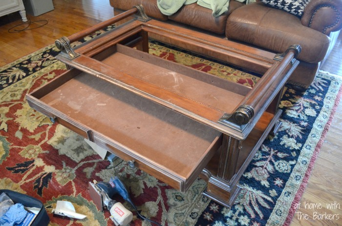 Coffee Table Makeover-Before