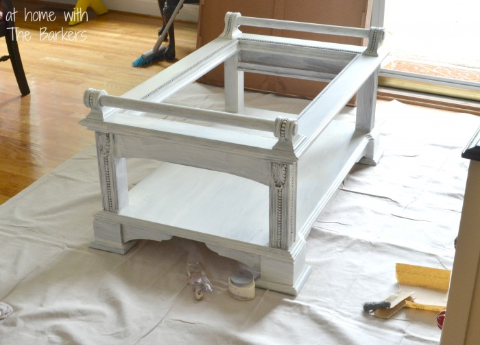 Coffee Table Makeover-During Painting