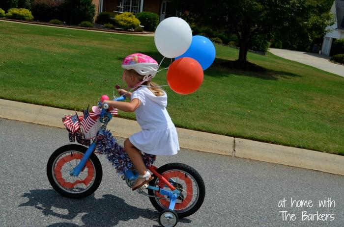 July Fourth Neighborhood Parade-Bike Decor