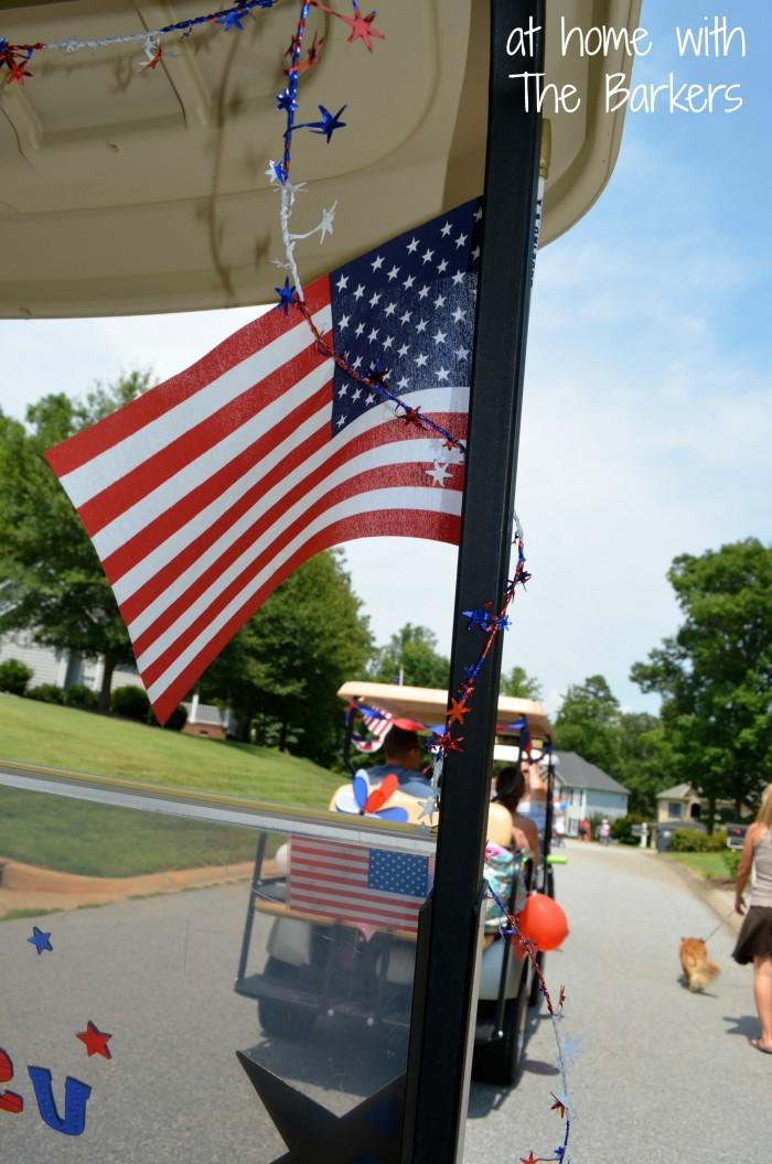 July Fourth Neighborhood Parade-Flag