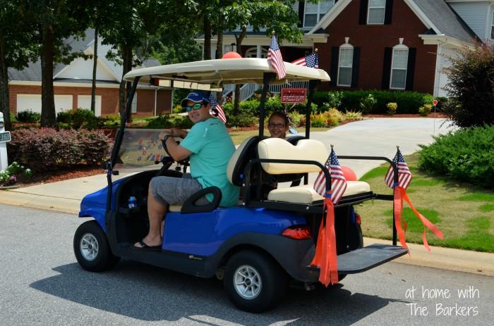 July Fourth Neighborhood Parade-Golfcart decor