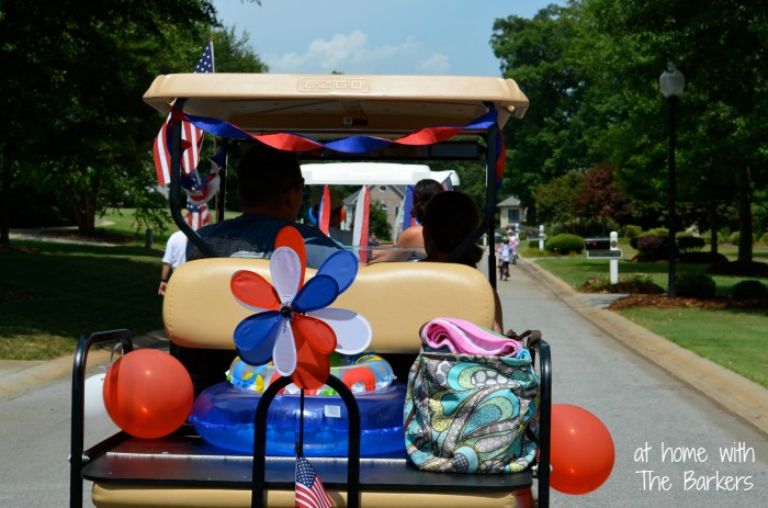 July Fourth Neighborhood Parade-Red-White-Blue
