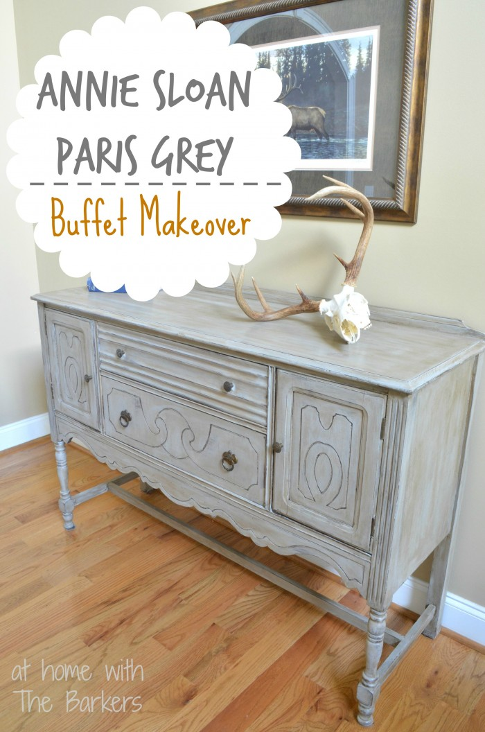 Chalk Paint Color Wash Over Grey