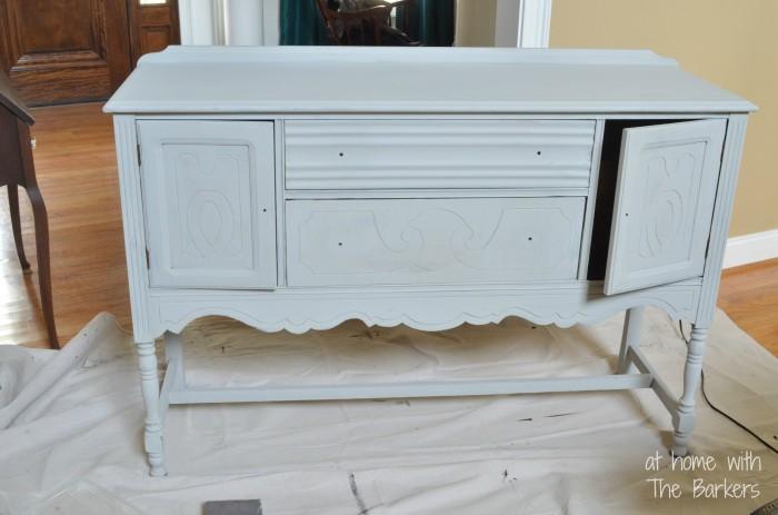 Paris Grey Buffet table-Annie Sloan Chalk Paint Before Waxing