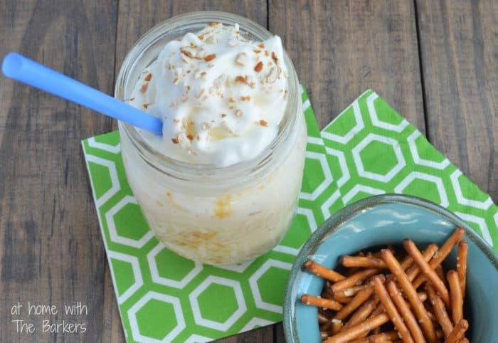 Salted Caramel Crunch Milkshake-Summertime Treat