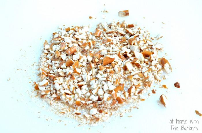Salted Caramel Crunch Milkshake-crushed pretzels
