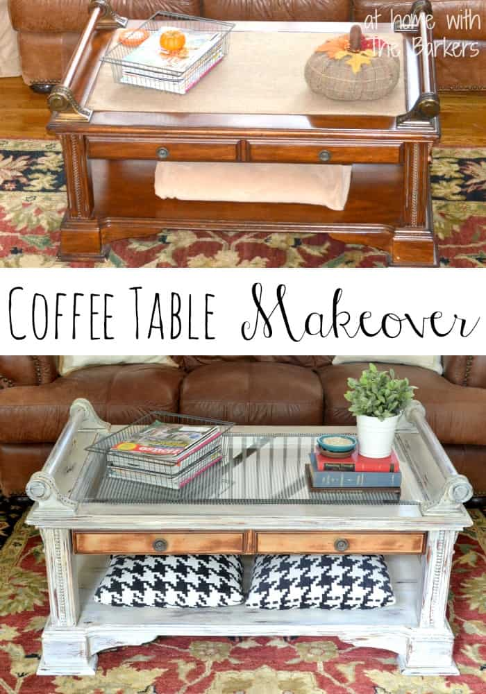 Coffe Table Makeover-Before and After