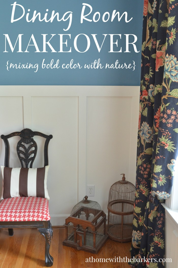 Dining Room Makeover- Mixing Bold Color with Nature
