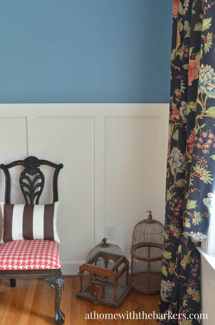 Dining Room Makeover-Navy, Red, Brown