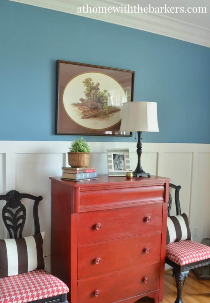 Dining Room Makeover-Red Dresser
