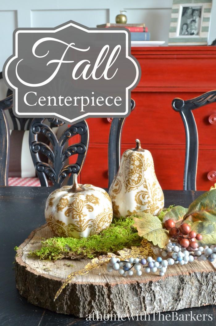 Fall Centerpiece Dining Room Table Decor