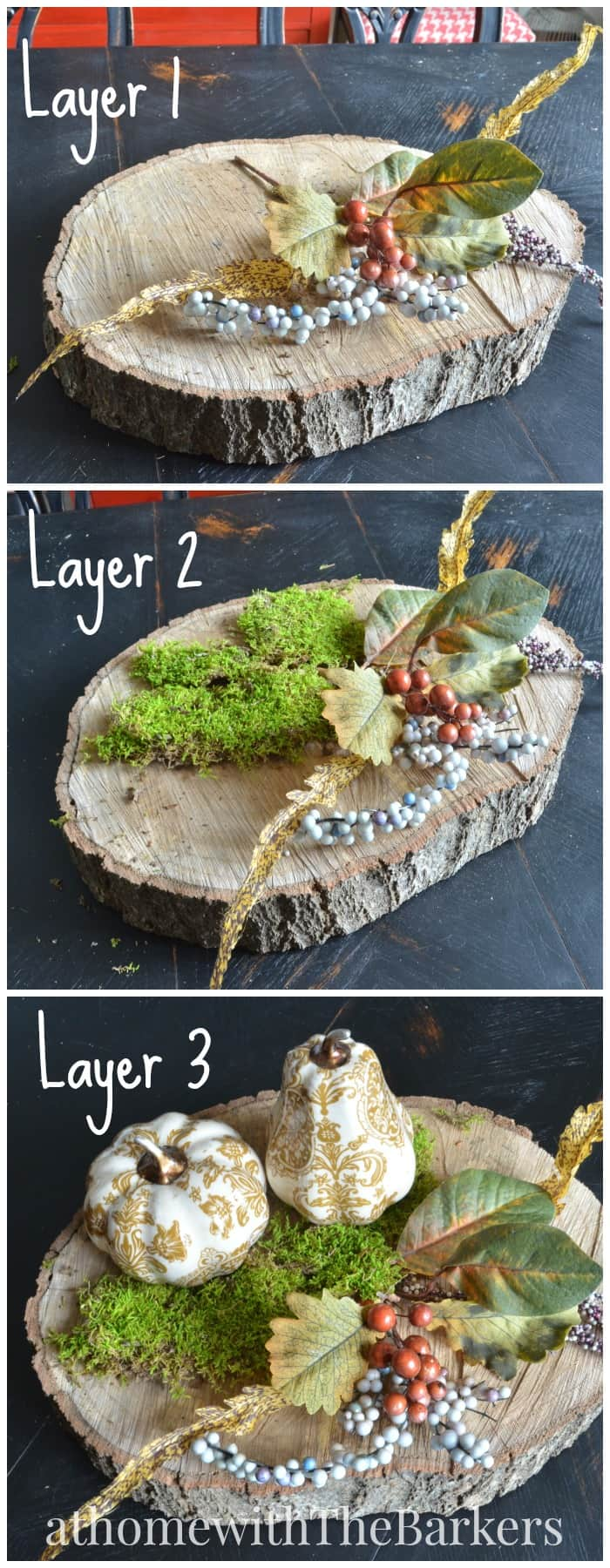 Fall Centerpiece-Layering steps