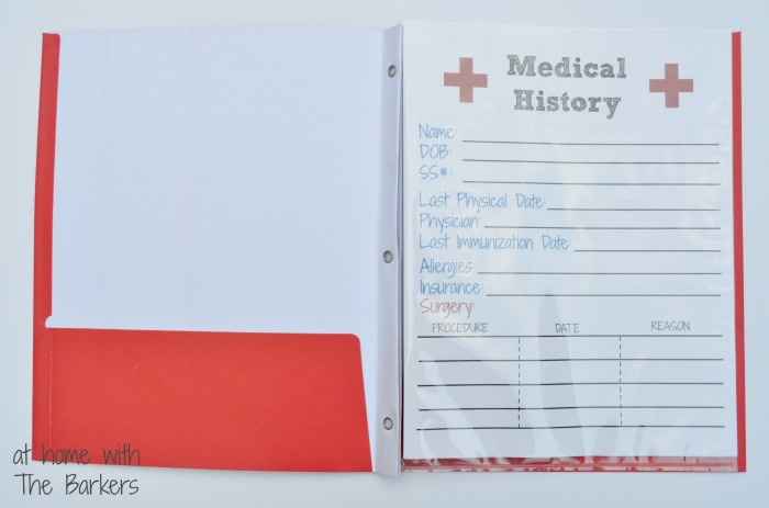 Medical History Free Printable  At Home With The Barkers