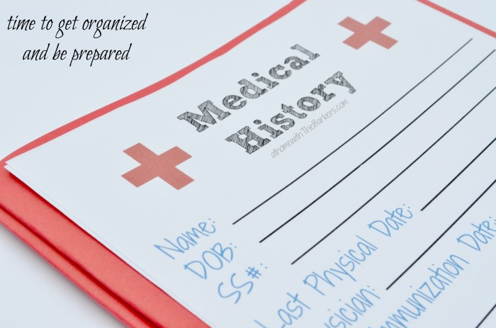 Medical History Free Printable-Organized