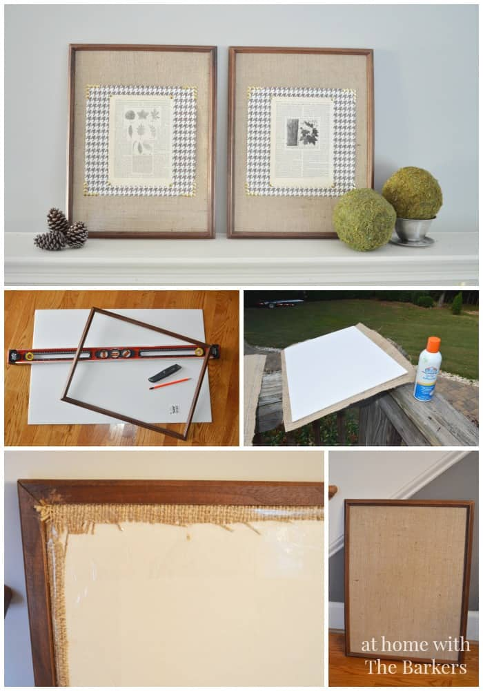 #bestofdiy, burlap art supplies, burlap and book pages art