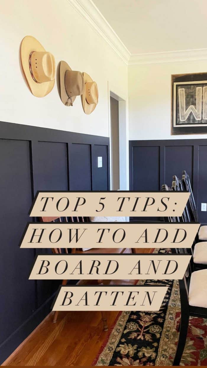 How to DIY Board and Batten