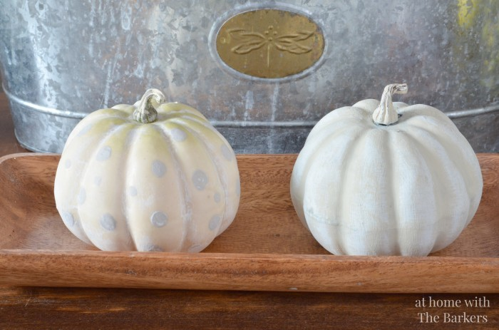 Painted Pumpkins with layering paint techniques