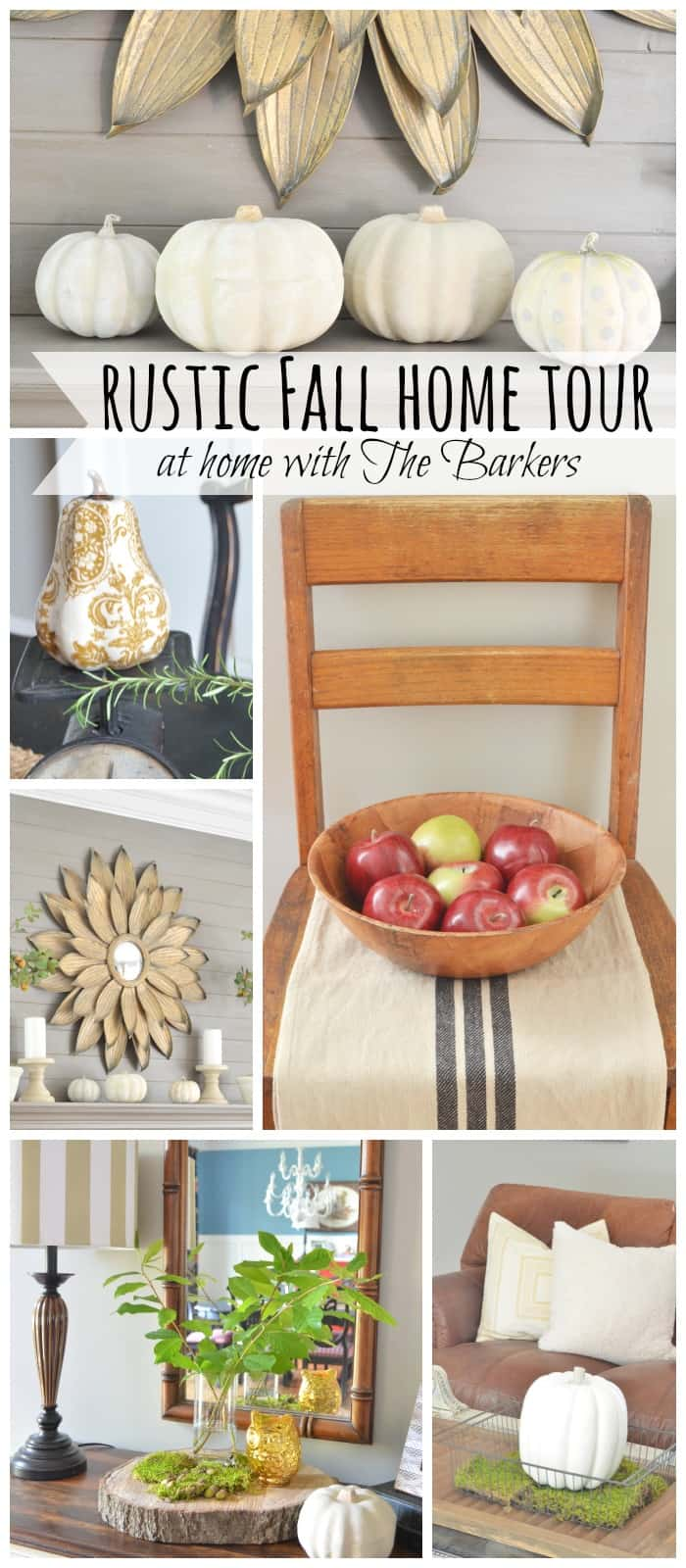 Rustic Fall Home Tour-At Home with The Barkers
