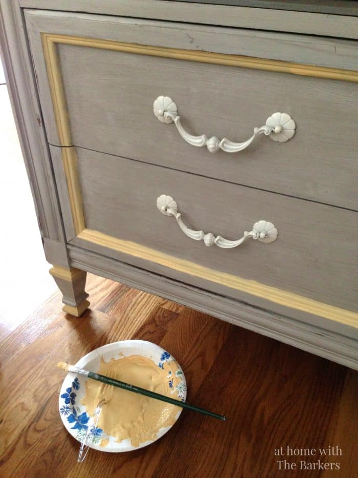 Tv Stand Makeover Diy Hand Painting