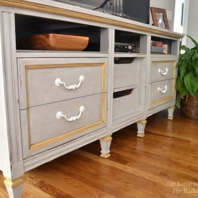 TV Stand Makeover-Themed Furniture Day